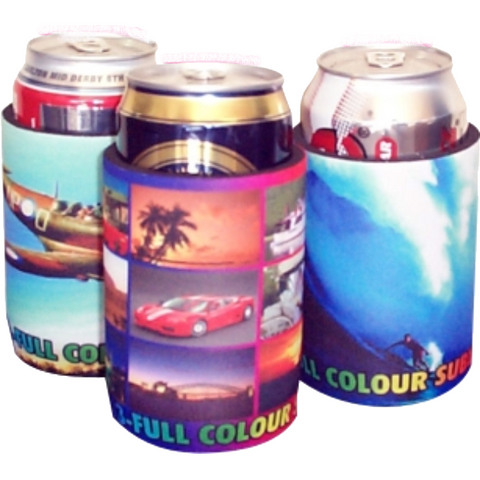 Full Colour Sublimation Stubby Holder - Base and Taped seams.