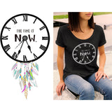 THE TIME IS NOW. LADIES MALI TEE