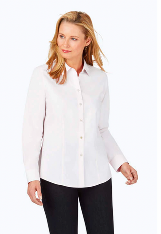 Foxcroft Dianna Essential Pinpoint Non-Iron Shirt