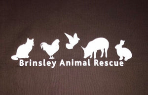 Brinsley Animal Rescue Chocolate Coloured Bag. 100% Cotton & Machine Washable!