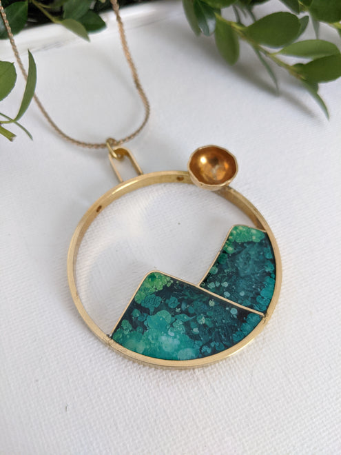 Brass And Resin Jewelry