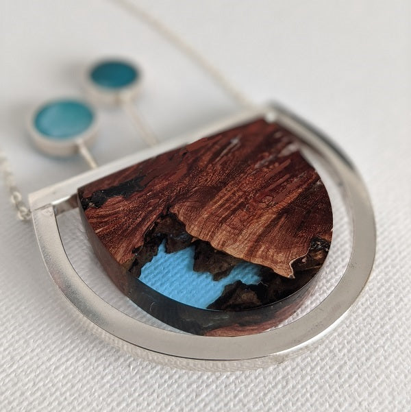 Silver And Resin Jewelry