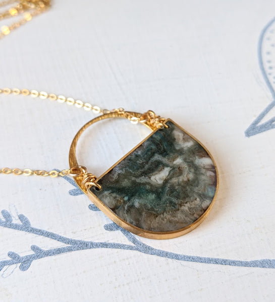 Omega Nebula Arc Necklace