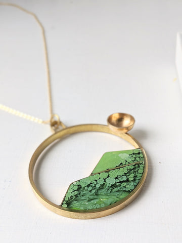 Sunny Mountain Landscape Necklace