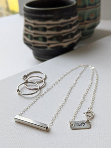 The Timeless Bar - Sterling Silver Necklace