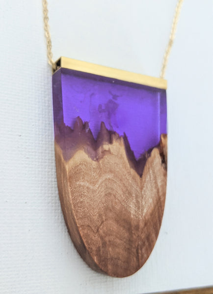 Purple Daydream Wood and Resin Crest Landscape