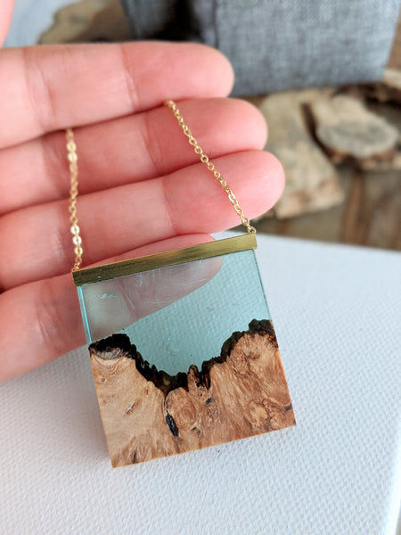 Smoky Mountains Wood and Resin Landscape