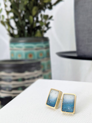 Snowy Day Rectangle Post Earrings