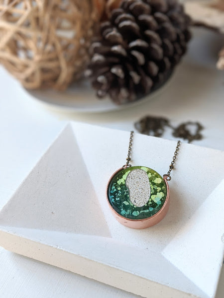 The Island - Sand and Resin Kaleidoscope Necklace