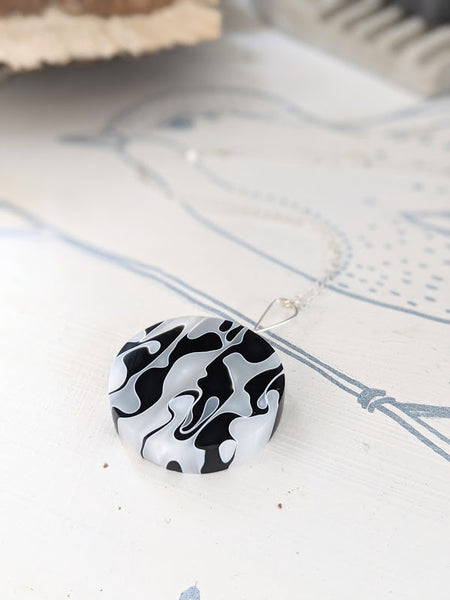 The Happy Cow Resin And Sterling Silver Necklace