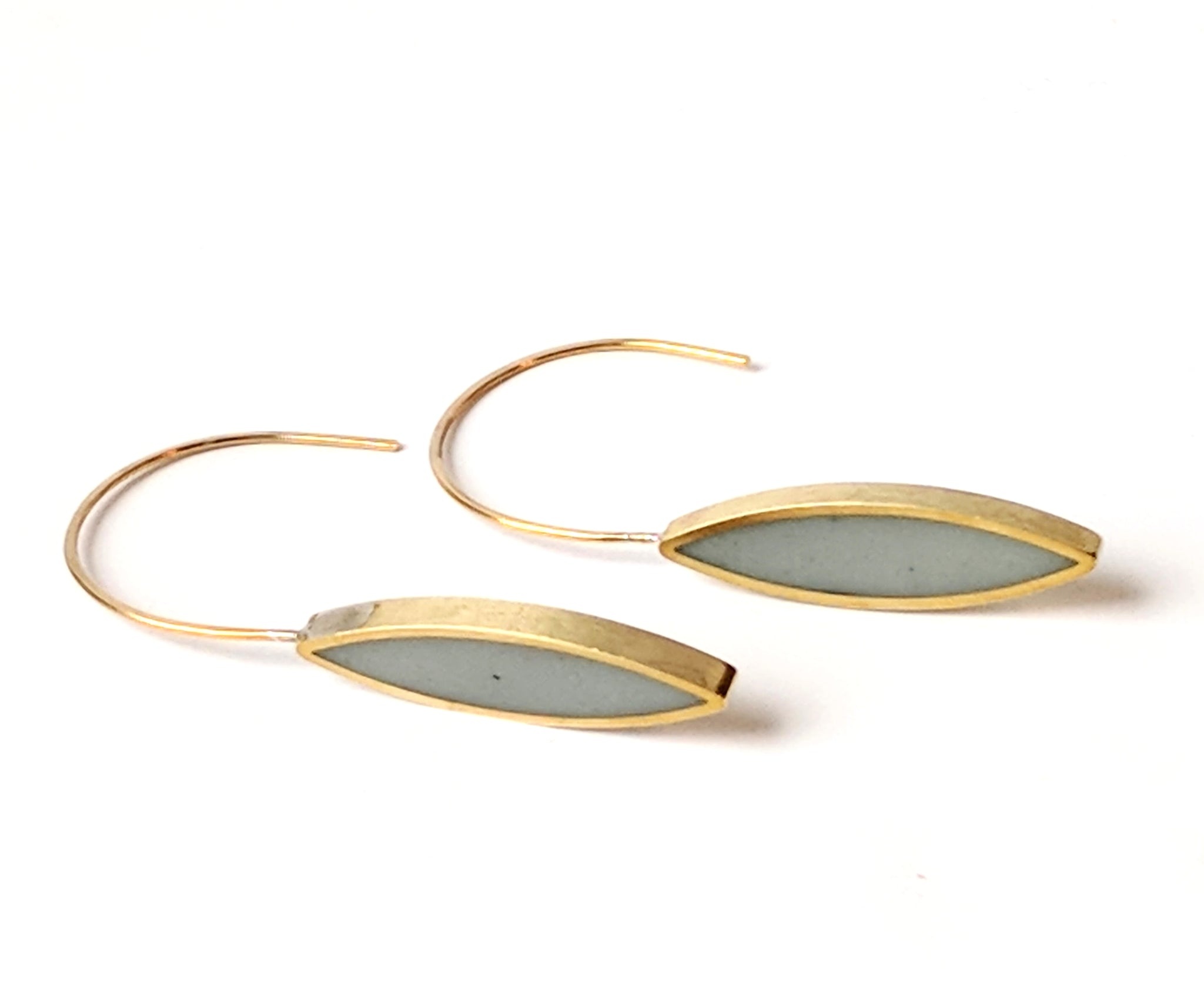Neomodern Marquis Light Slate Eco Resin Earrings