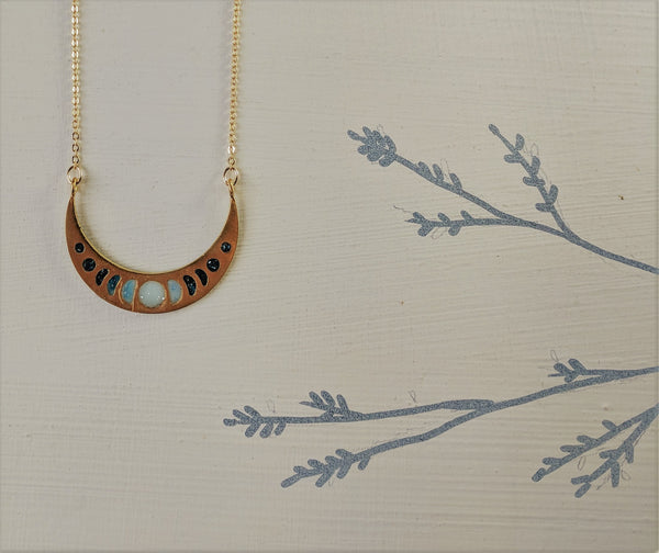 """Mystical Moon Phases"" Necklace"