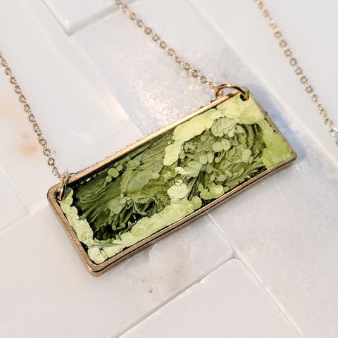 Green  Landscape Necklace