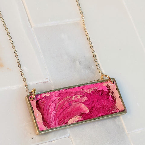 Pink Landscape Necklace