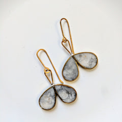 Double Drop Marble Earrings
