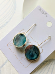 Aurora Silver and Resin Earrings