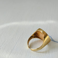 Goldenrod Resin and Brass Ring
