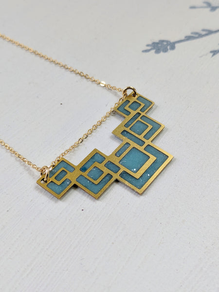 Art Deco Pendant and Eco Resin