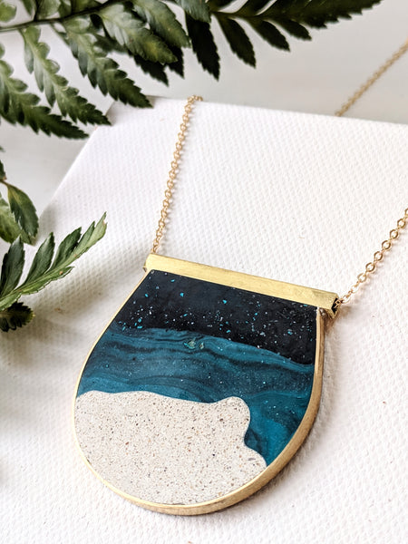 Large Moonscape Necklace