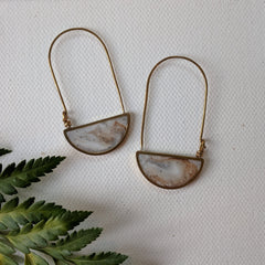 Arch Brass Half Circle Earrings
