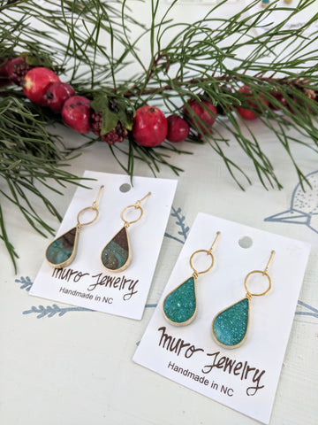 Drop and Loop Dangle Earrings