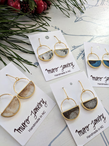 Half Moon Dangle Earrings