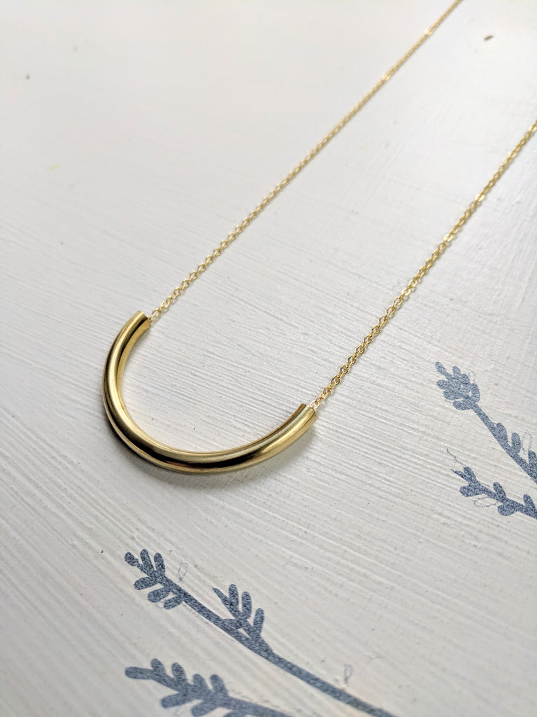 Brass Tube Necklace