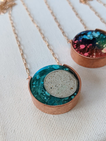 Copper And Resin Necklace