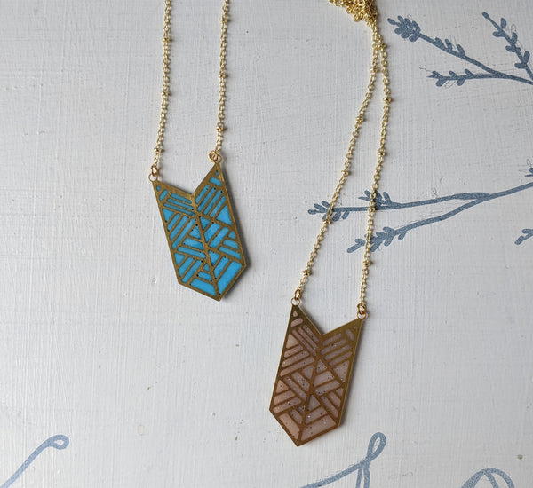 Chevron Geometric Necklace