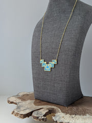 Frank Lloyd Wright Inspired Geometric Necklace
