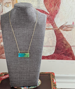"""This reminds me of Monet's Water Lilies"" Necklace!"