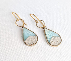 Beach Teardrop Dangle Earrings