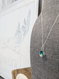Mini Circle Pendant w/ Elongated Loop - Mar Adentro Collection