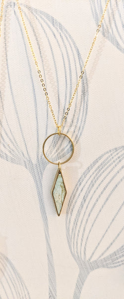 Outer Balance - Rhombus and Circle Necklace