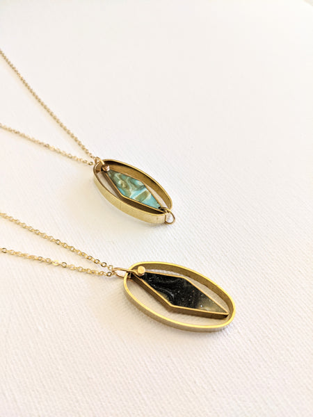 Inner Balance - Oval and Rhombus Necklace