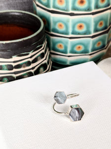 Sterling Silver Hexagons Ring - Gray