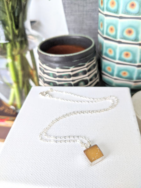 Mini Squares Sterling Silver Necklaces