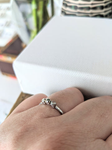 Sterling Silver Stacking Ring - Ellipsis