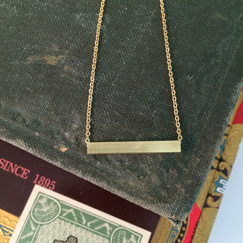 Timeless Brass Bar Necklace