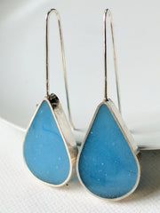 Light Blue Sky Sterling Silver Teardrop Earrings