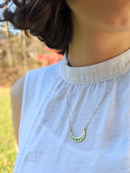 Petite Moon Phases Necklace