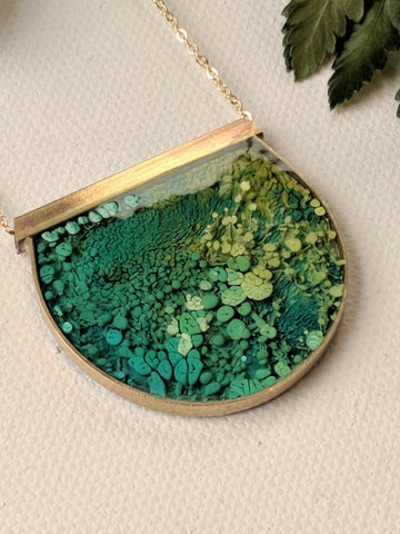"""This reminds me of Monet's Water Lilies"" Necklace"