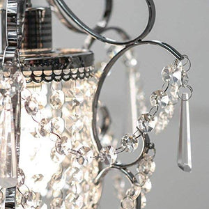 "RL4025 Jess Crystal Chandelier, 1 11"" x 15"", Chrome, 11"""