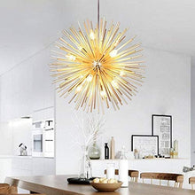 Load image into Gallery viewer, Golden Sputnik Chandelier Ceiling Light Lamp Pendant Lighting Fixture E14 Light (Dia 29.5-Inch)