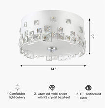 Load image into Gallery viewer, Ceiling Light LED Flush Mount, Ceiling Light Fixture Ceiling lamp Round LED Ceiling Lamps for Kitchen, Hallway, Bathroom, Stairwell