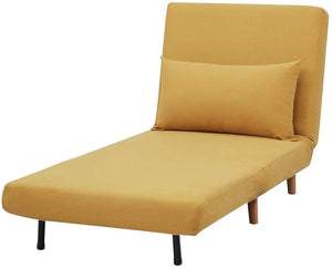 Tri-Fold Sofa Bed, With Pillow, Yellow