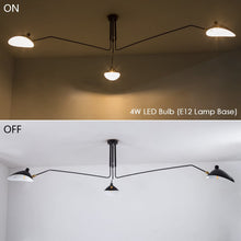 Load image into Gallery viewer, Lamps for Living Room - Large Ceiling Light Fixture Room Lights LED Hanging Lights Iron Pendant Lighting Adjustable Lampshade 3 Arms Chandeliers for Dining Rooms Bedroom Metal Matte Black