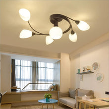 Load image into Gallery viewer, Joypeach Rustic Style LED Flush Mount Ceiling , Creative Living Room Ceiling Lamp, Bedroom Ceiling Lamp, Ceiling Lamp for Dinning Room (110V)