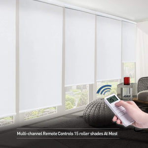 Motorized Shades Motorized Blackout Shades Roller Shades Blackout Blinds for Smart Home and Office 36x72, White