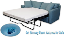 Load image into Gallery viewer, 4.5-Inch Gel Memory Foam Sofa Mattress, Folding Mattress (Full)